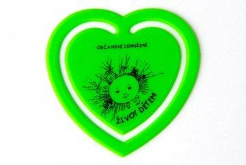 Plastové srdíčko - zelené
