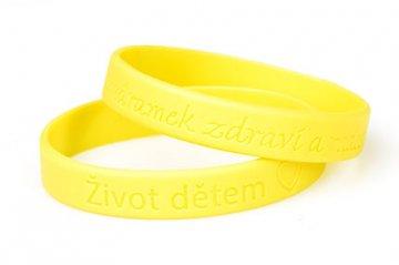 Silikonový žlutý náramek