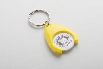 Přívěsek se žetonem do nákupního vozíku žlutý