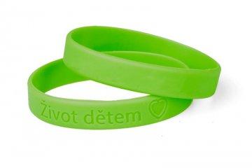 Silikonový zelený náramek