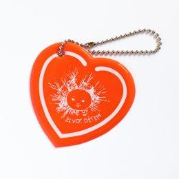 Oranžové reflexní srdíčko - přívěsek