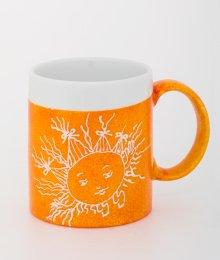 Ručně malovaný hrneček - oranžový