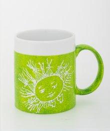 Ručně malovaný hrneček - zelený