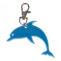 Modrý reflexní delfínek - přívěsek