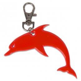 Oranžový reflexní delfínek - přívěsek
