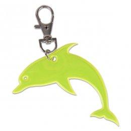 Žlutý reflexní delfínek - přívěsek