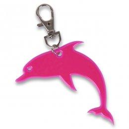 Růžový reflexní delfínek - přívěsek