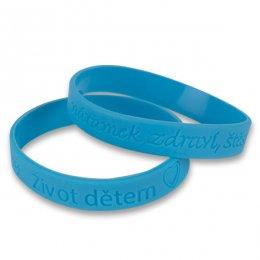 Silikonový modrý náramek-dětská velikost