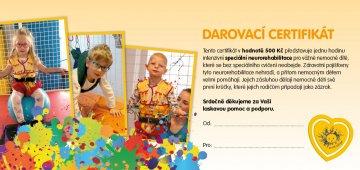 Darovací certifikát jako dárek