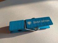 Kolíček s magnetem -modrý