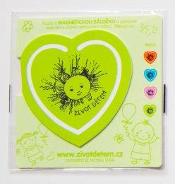 Magnetická záložka - zelená