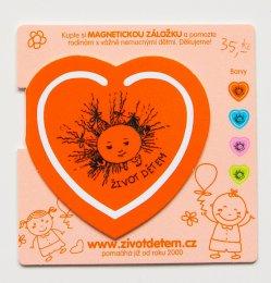 Magnetická záložka - oranžová