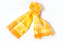 Ručně malovaný šál - oranžovo-žlutý
